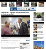 In The News - Identity theft, fraud and elder abuse discussed at Sonoma town hall