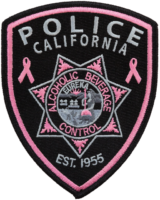 California Alcoholic Beverage Control Agents Proud Partners of Pink Patch Project