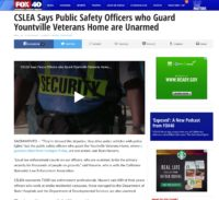In The News - CSLEA Says Public Safety Officers who Guard Yountville Veterans Home are Unarmed