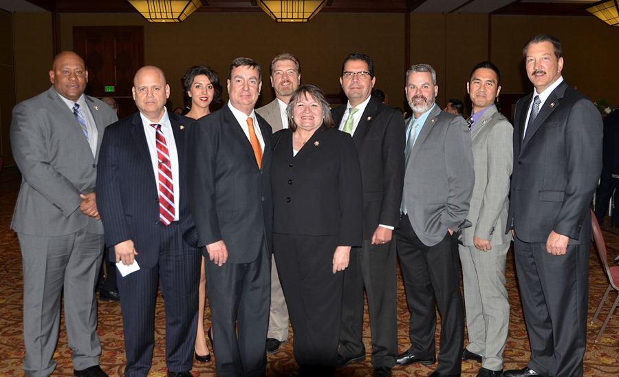 CSLEA Board Members and Senator Joel Anderson