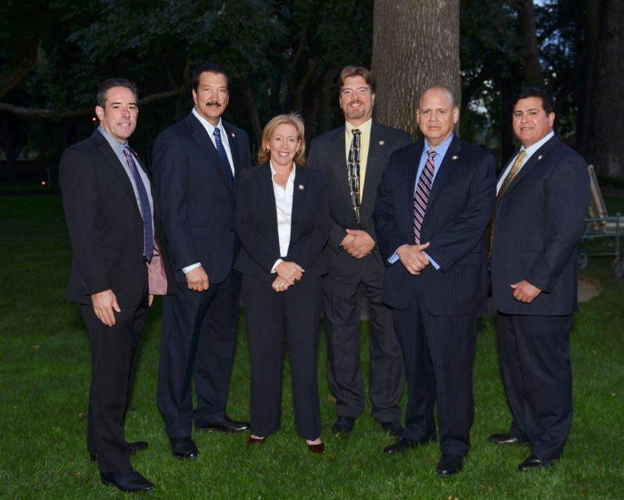 (From left to right: Chief Counsel Kasey Clark, President Alan Barcelona, District Attorney-Elect Anne Marie Schubert, Board Member Tom Ineichen, CFO Ricardo Sanchez