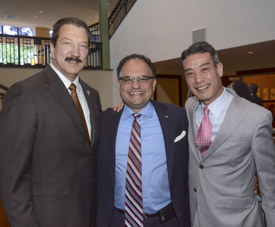 From left to right: CSLEA President Alan Barcelona, Political Consultant Peter Mitchell, Dart Container Corporation Regional Manager Jonathan Choi