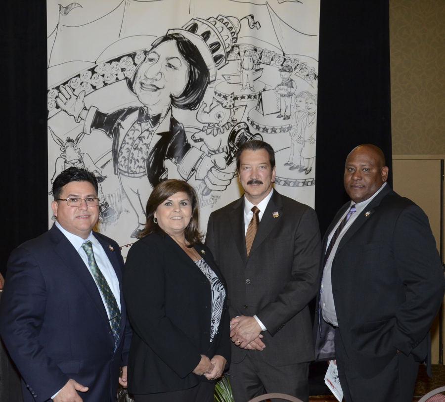 From left to right: CSLEA CFO Ricardo Sanchez, Senior Vice President Tina Brazil, President Alan Barcelona, Director Al Cardwood