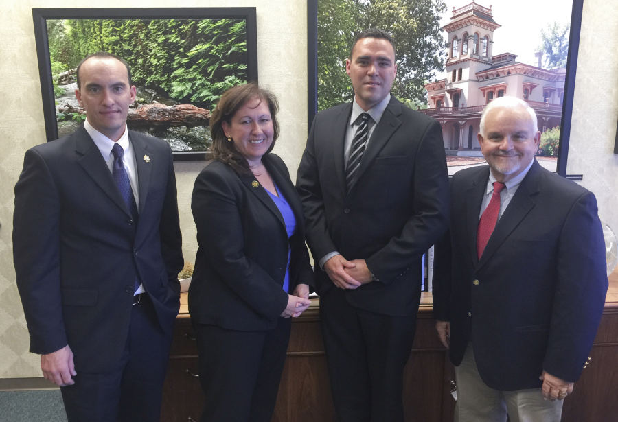 From left to right: RPPOA President Matt Yarbrugh, Parks Director Lisa Mangat, RPPOA Vice President Geno Lucich, Sr. Advisor Paul Mills