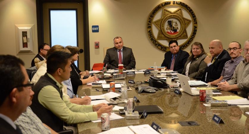 Assemblymember Freddie Rodriguez at CSLEA Board Meeting