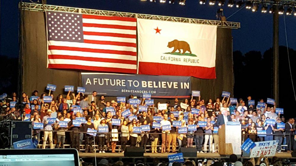 Bernie Stage Photo