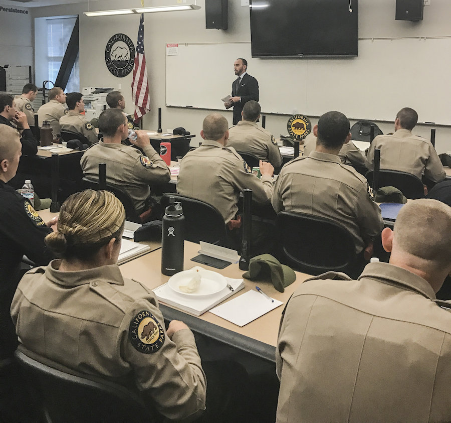 CSLEA Visits Cadets at State Parks Law Enforcement Academy