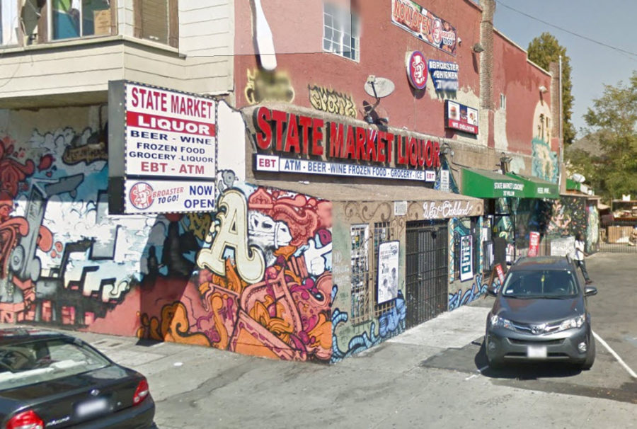 ABC Agents Post Notice of Suspension at Oakland Liquor Store