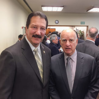 CSLEA President Attends Governor's State of the State Attorney General Xavier Becerra given the oath of office