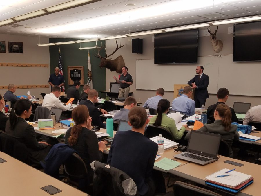 CSLEA Visits Cadets at Fish and Wildlife Law Enforcement Academy