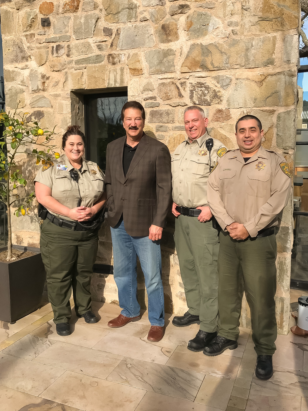 CSLEA President Thanks Yountville Firefighter Security Officers Recognized for Assisting with North Bay Fires