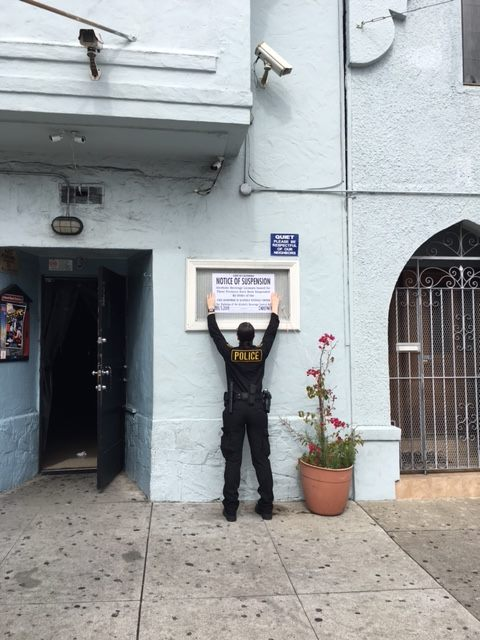 ABC Agents Posts Notice of Suspension at San Francisco Bar