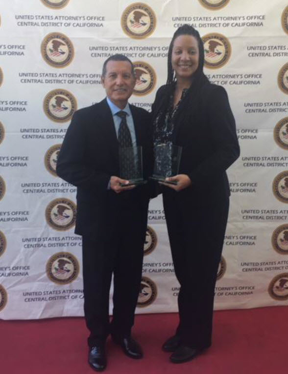 CDI Detective Kimberly Johnson Receives Award from U.S. Attorney's Office
