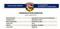 CAL FIRE Communications Exam Bulletin Posted