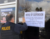 ABC Agents Post Notice of Suspension at Palmdale Restaurant