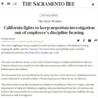 In The News - California fights to keep nepotism investigation out of employee's discipline hearing