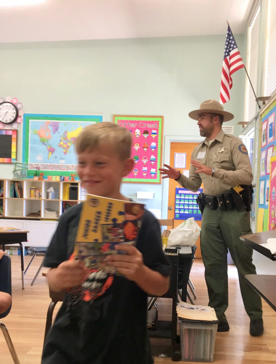 State Parks Ranger John Geno Lucich Visits School in Montecito