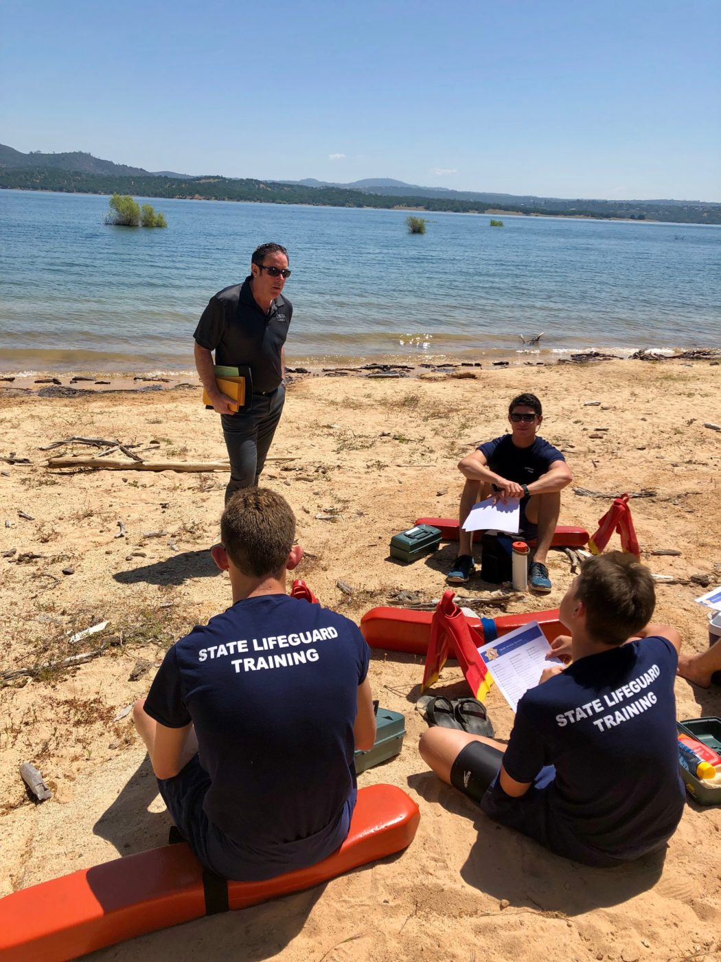 CSLEA Meets with new Seasonal Lifeguards at Folsom Lake