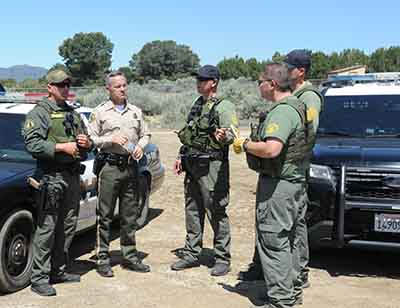 CDFW Wardens Help with Illegal Marijuana Cultivation Bust in