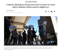 In the News - Contract deal gives 10 percent raise or more to state safety and law enforcement employees