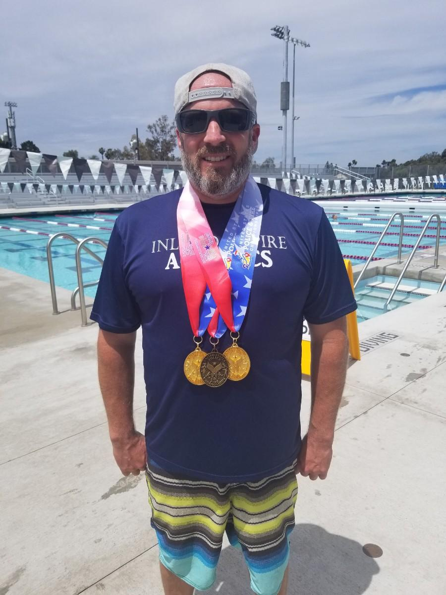 CSLEA / CACI Member Mark Hitter Earns Brings Home the Gold at 2019 Police & Fire Games