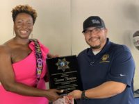 CACI Presents CDI Det. Thompson with Retirement Plaque
