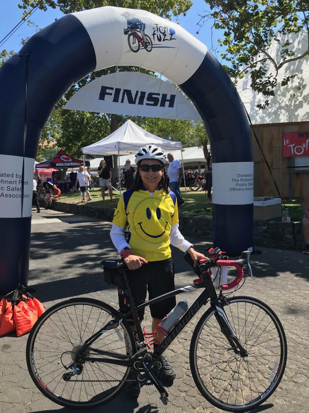 CACI Member Jo Barbo Rides 35 miles in Le Tour De Fuzz