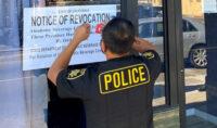 ABC Agents Posts Revocation Notice at an Oxnard Bar