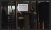 ABC Agents Post Notice of Revocation at Taco Beach Restaurant in Long Beach