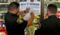 ABC Agents Post Notice of Suspension at Quick-N-Shop Liquor in Fresno